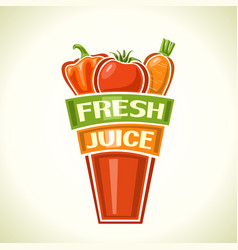 fresh vegetable juice vector image vector image