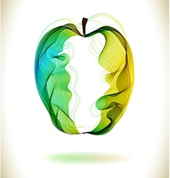 Green abstract apple vector image vector image