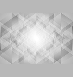 grey abstract tech low poly triangles background vector image vector image
