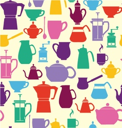 ilhouettes Coffee and Tea Pots vector image vector image