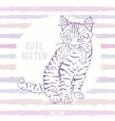 kitten sketch vector image vector image