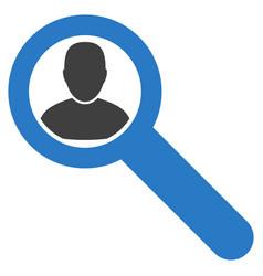 Locate user flat icon vector