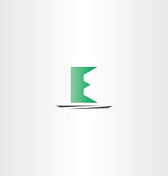 Logo logotype e green e letter sign symbol vector