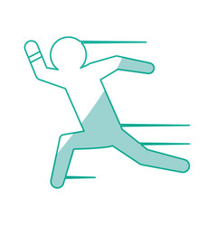 Man running draw vector