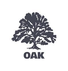 Oak tree logo silhouette vector