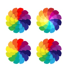 rainbow flowers vector image