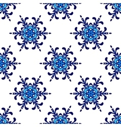 seamless pattern winter snowflake background vector image vector image