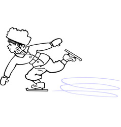 Skating boy vector image vector image