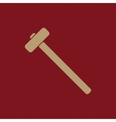 The sledgehammer icon sledgehammer symbol vector