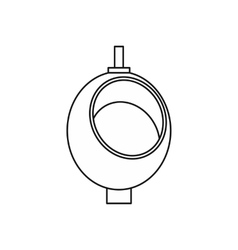 Urinal or chamber pot for men icon outline style vector