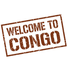 Welcome to congo stamp vector