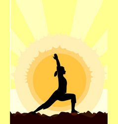 Yoga warrior pose vector