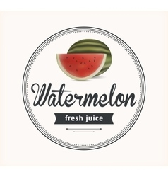 Watermelon juice detailed label vector