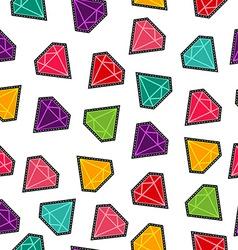 Diamond stone stitch patch pattern in fun colors vector image