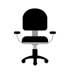 Office armchair icon vector