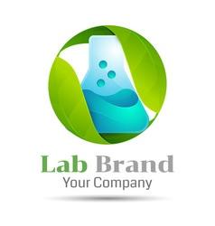 Eco green lab volume logo colorful 3d design vector