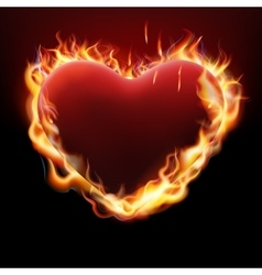 Vlentine s day concept heart in flame eps 10 vector
