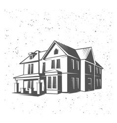 House silhouette black and white vector