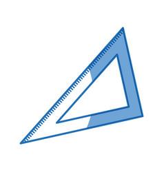 triangle ruler geometry school utensil vector image
