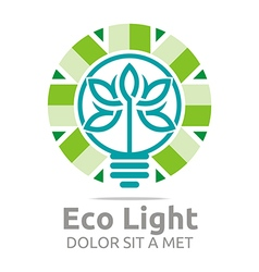 Abstract logo lamp eco light bulb design icon vector