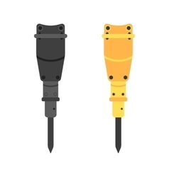 Two hydraulic hammers in different colors vector