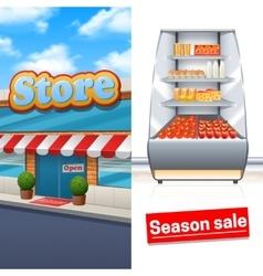 Supermarket Banner Set vector image