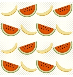 Background with watermelon and cantaloupe vector