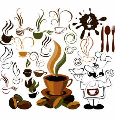 cafe menu icon vector image