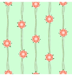 Orange flower vine green background vector