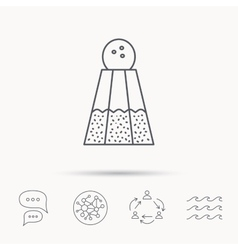 Salt icon sodium spice sign vector