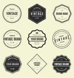Vintage brand badge vector