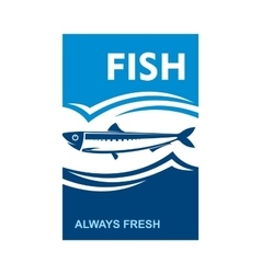 Always fresh fish icon for seafood design vector