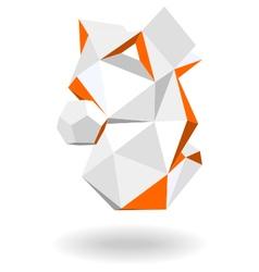 Abstract geometric 3d shape vector