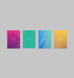 Abstract minimal covers design template vector