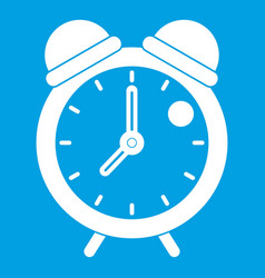 Alarm clock retro classic design icon white vector