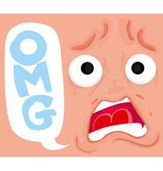 Cartoon comics face vector image vector image