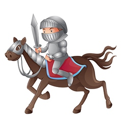 Cartoon Knight vector image vector image