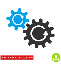 Cogs Rotation Eps Icon vector image vector image