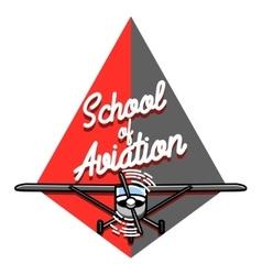 Color vintage Aviation emblem vector image vector image