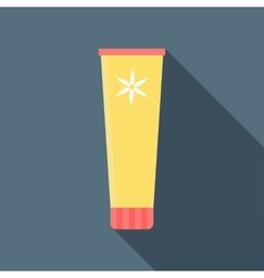 Cosmetic tube icon flat style vector image vector image