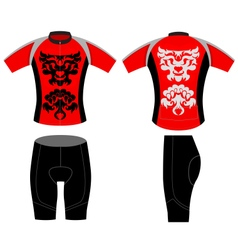Cycling vest tattoo lion style vector