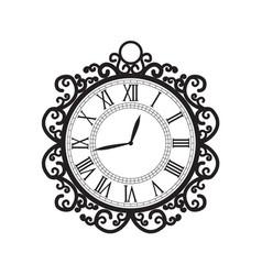 Decoration clock vector