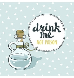 Drink me jar isolated bottle with water vector