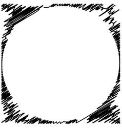 grunge black ink border frame background vector image