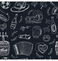 Hand drawn doodle Germany travel seamless pattern vector image vector image