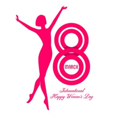 Happy Women Day background vector image vector image