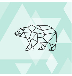 Polygonal of polar bear vector
