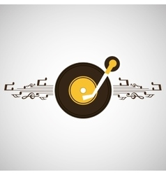 Retro music design vector