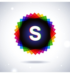Spectrum logo icon Letter S vector image vector image