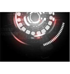technological abstract red light digital vector image